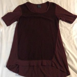 Anthropologie maroon blouse